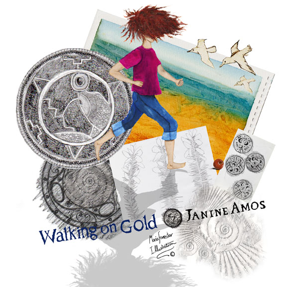 Walking on Gold cover roughs